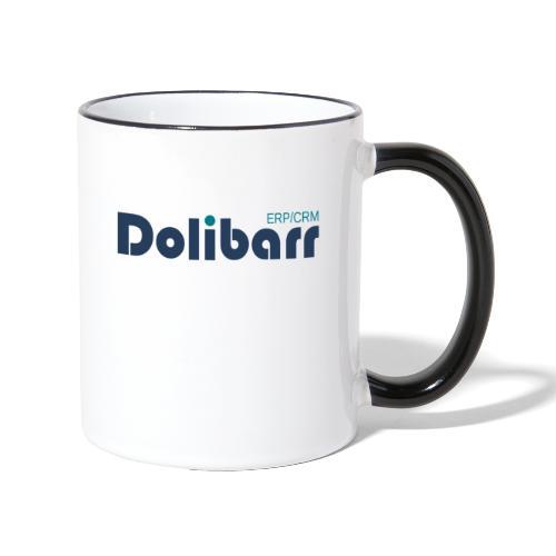 Dolibarr Logo new blue - Taza en dos colores
