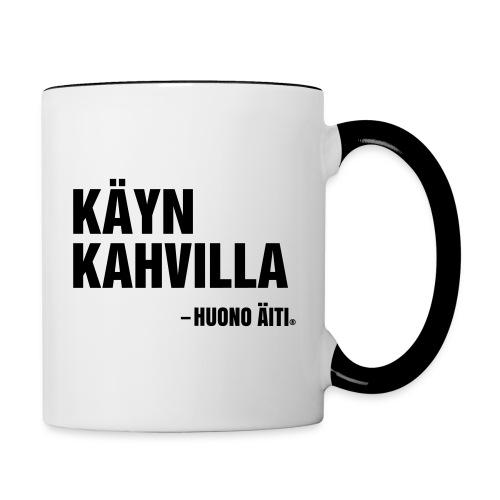 Käyn kahvilla - Kaksivärinen muki