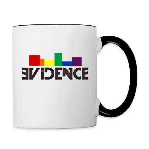 NEW EVIDENCE RAINBOW blk - Mug contrasté