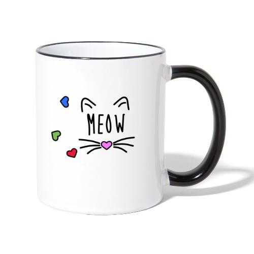 Meow - Taza en dos colores