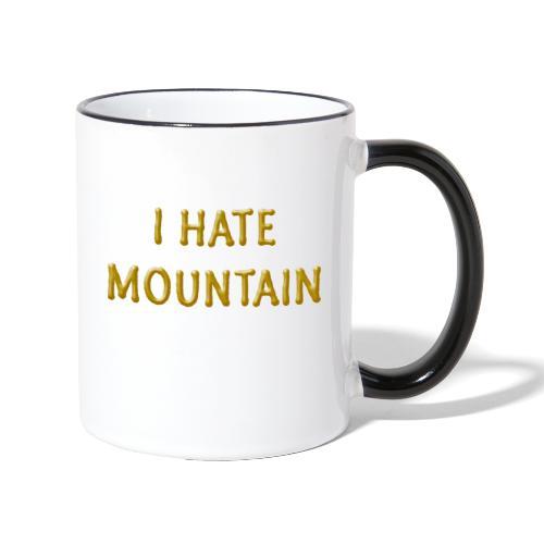 hate mountain - Tasse zweifarbig