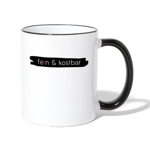 fein & kostbar - Markenlogo - Tasse zweifarbig