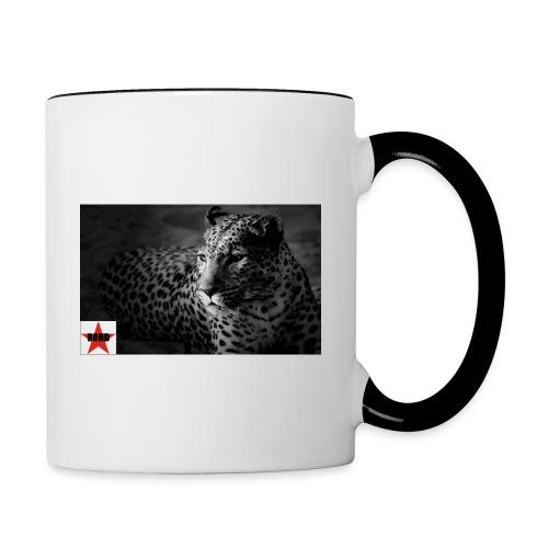 black-white-cat - Tasse zweifarbig