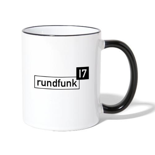 rundfunk17 Logo schwarz - Tasse zweifarbig
