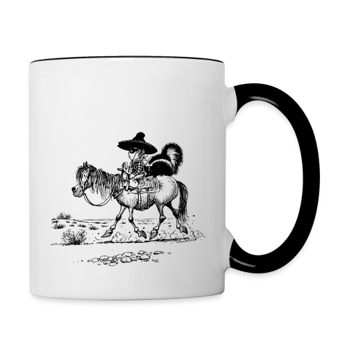Thelwell 'Cowboy with a skunk' - Contrasting Mug