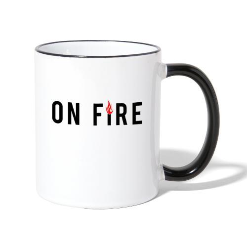 on fire - Tasse zweifarbig