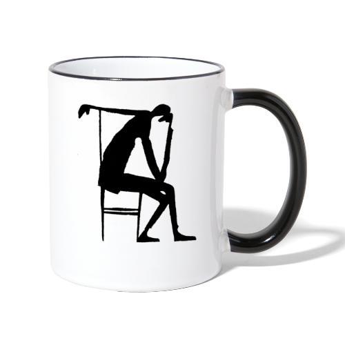 Franz Kafka - Der Denker - Tasse zweifarbig