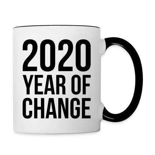 - 2020 Year of change - Tasse - Tasse zweifarbig