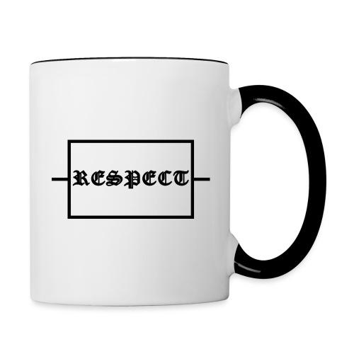 Widerstand für RESPECT - Tasse zweifarbig