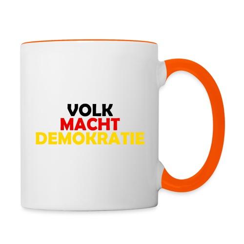 VOLK MACHT DEMOKRATIE - Tasse zweifarbig