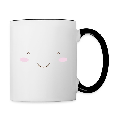 happy face - Contrasting Mug