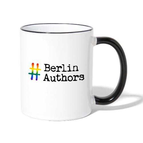 BerlinAuthors Logo Rainbow - Tasse zweifarbig