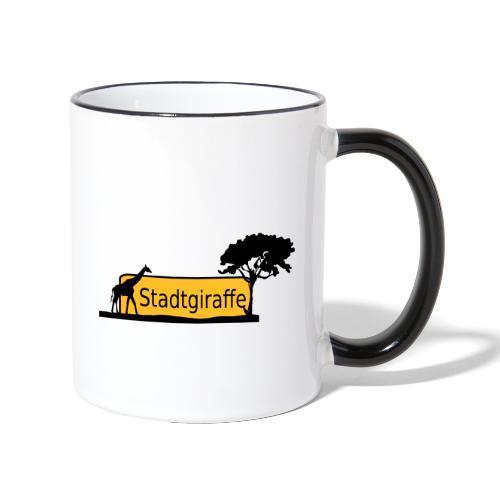 Stadtgiraffe - Tasse zweifarbig