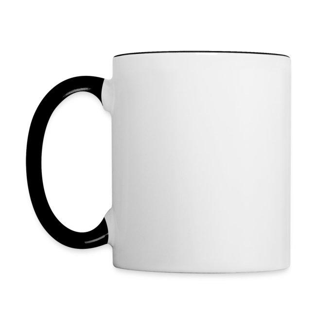 Vorschau: Vorsicht Herrchen - Tasse zweifarbig
