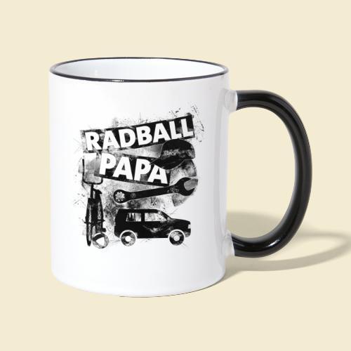 Radball | Papa - Tasse zweifarbig