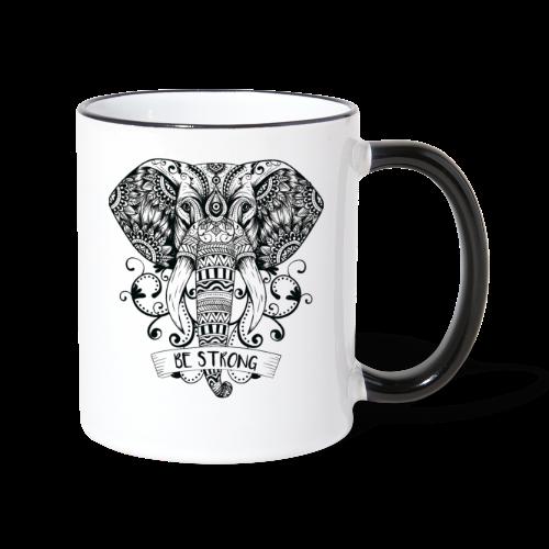 Be Strong Elephant - Contrasting Mug