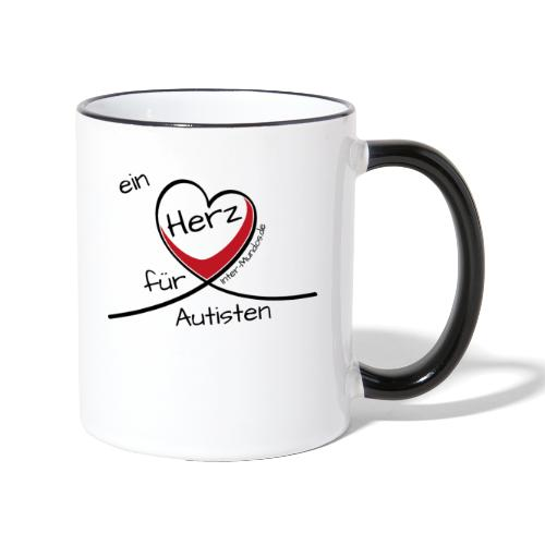 Ein Herz für Autisten - Tasse zweifarbig