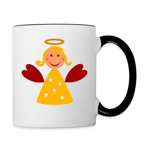 Schöner Engel mit Heiligenschein Süßes Engelchen - Tasse zweifarbig