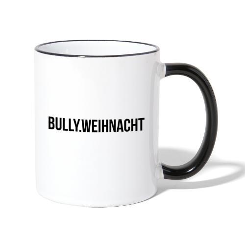 Französische Bulldogge Weihnachten - Geschenk - Tasse zweifarbig