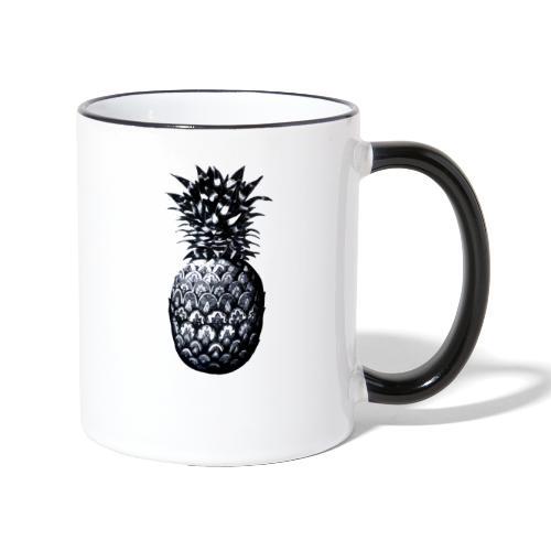 Vintage Pineapple - Tasse zweifarbig
