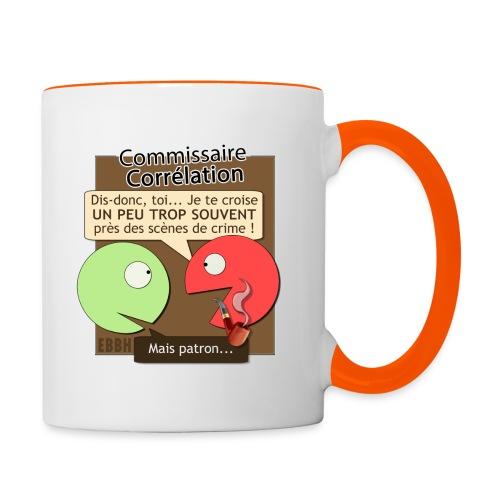 Commissaire Corrélation - Mug contrasté