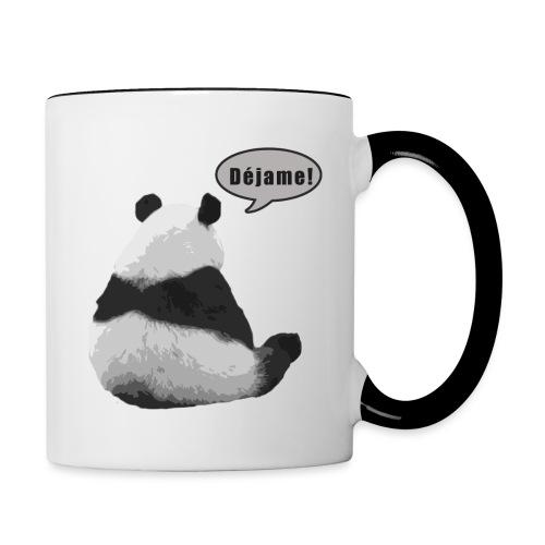 Panda Dejame - Taza en dos colores