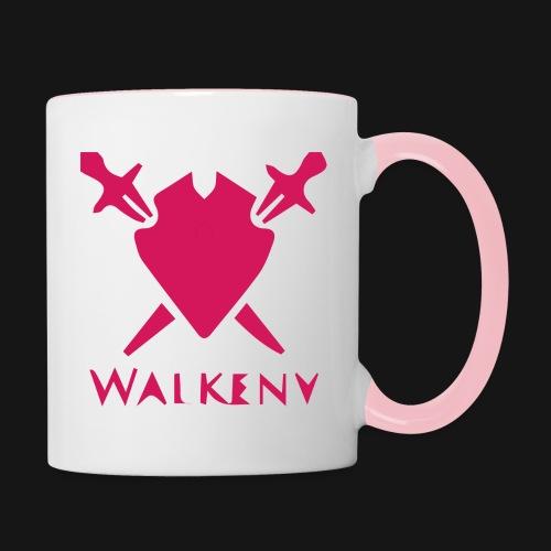 Das Walkeny Logo mit dem Schwert in PINK! - Tasse zweifarbig