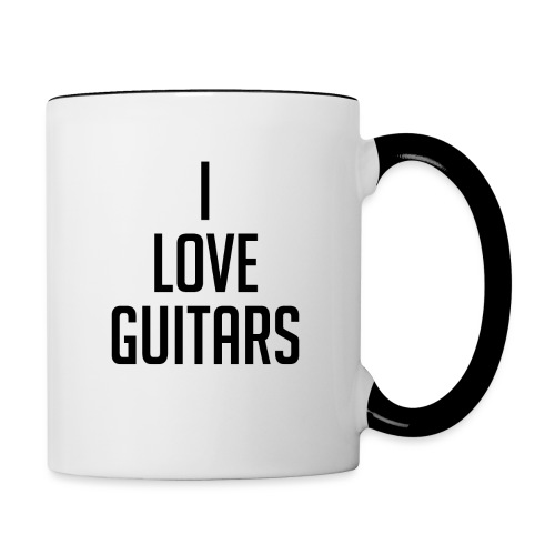 I Love Guitars - Contrasting Mug