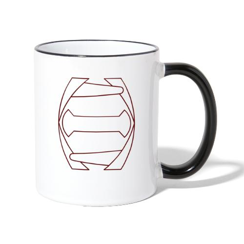 Punainen transparent logo - Kaksivärinen muki