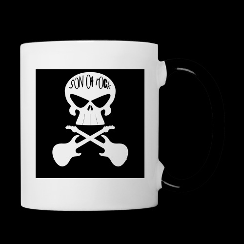 Logo sur fond noir - Mug contrasté