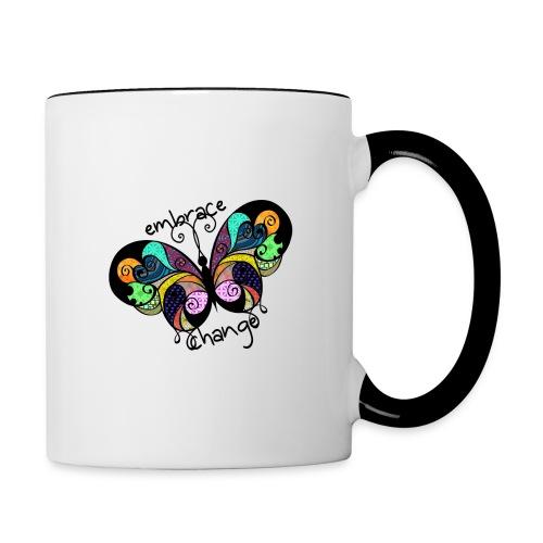 Embrace Change Butterfly - Contrasting Mug