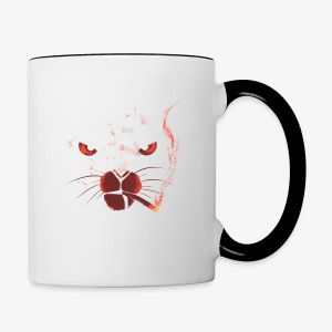 smocking cat - Tasse bicolore