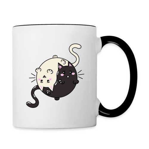 Cats Tai and chi - Mug contrasté