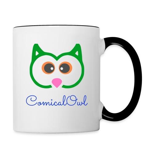Cartoon Owl - Contrasting Mug