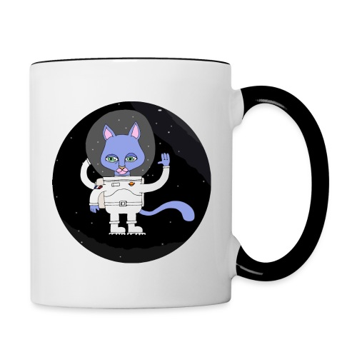 space cat - Mug contrasté