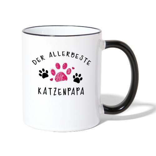 Der allerbeste Katzenpapa - Tasse zweifarbig