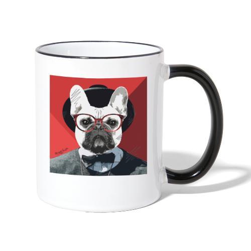 French Bulldog Artwork 2 - Tasse zweifarbig