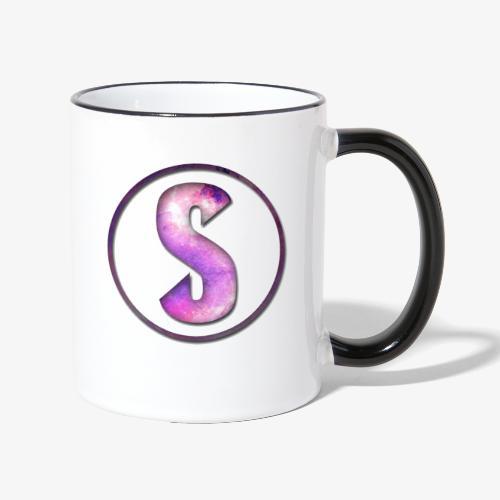 YouTube Logo von Salxphaa - Tasse zweifarbig