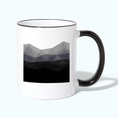 Minimalistic triangle geometry - Contrasting Mug