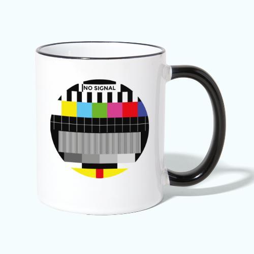 Vintage test pattern - Contrasting Mug