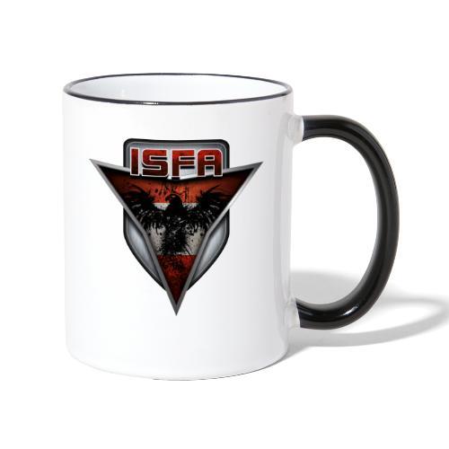 isfa logo abzeichen1 - Tasse zweifarbig