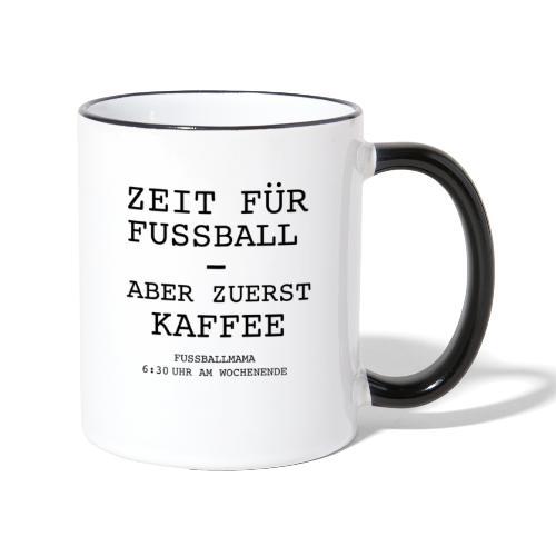 Kaffeezeit - Tasse zweifarbig