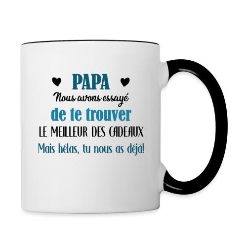 Papa, meilleur des cadeaux - Mug contrasté