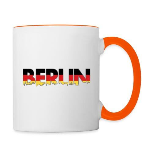 Berlin Typografie - Tasse zweifarbig