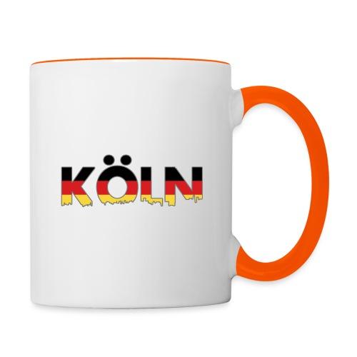 Köln Typografie - Tasse zweifarbig