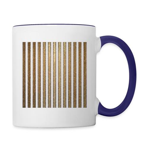 Gold Glitzer Streifen Muster Vintage Burlesque - Contrasting Mug