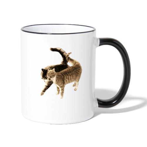 happy cats retro look - Contrasting Mug