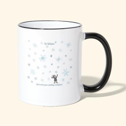 Just wish upon a falling snowflake in Winter - Tasse zweifarbig