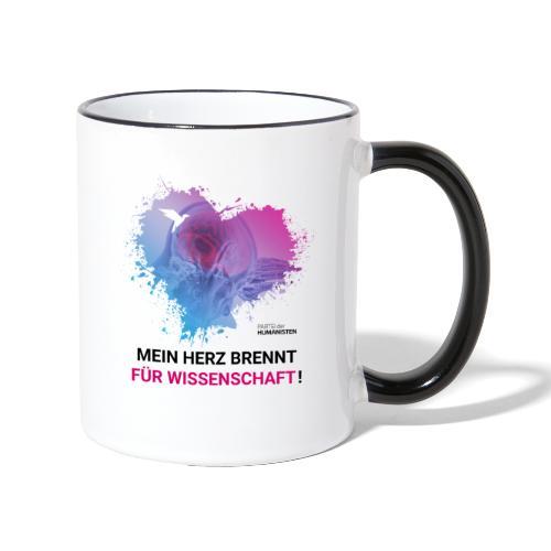 Mein Herz brennt für Wissenschaft! - Tasse zweifarbig