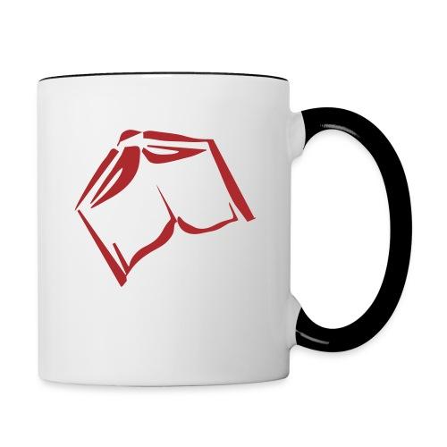 book - Tasse zweifarbig